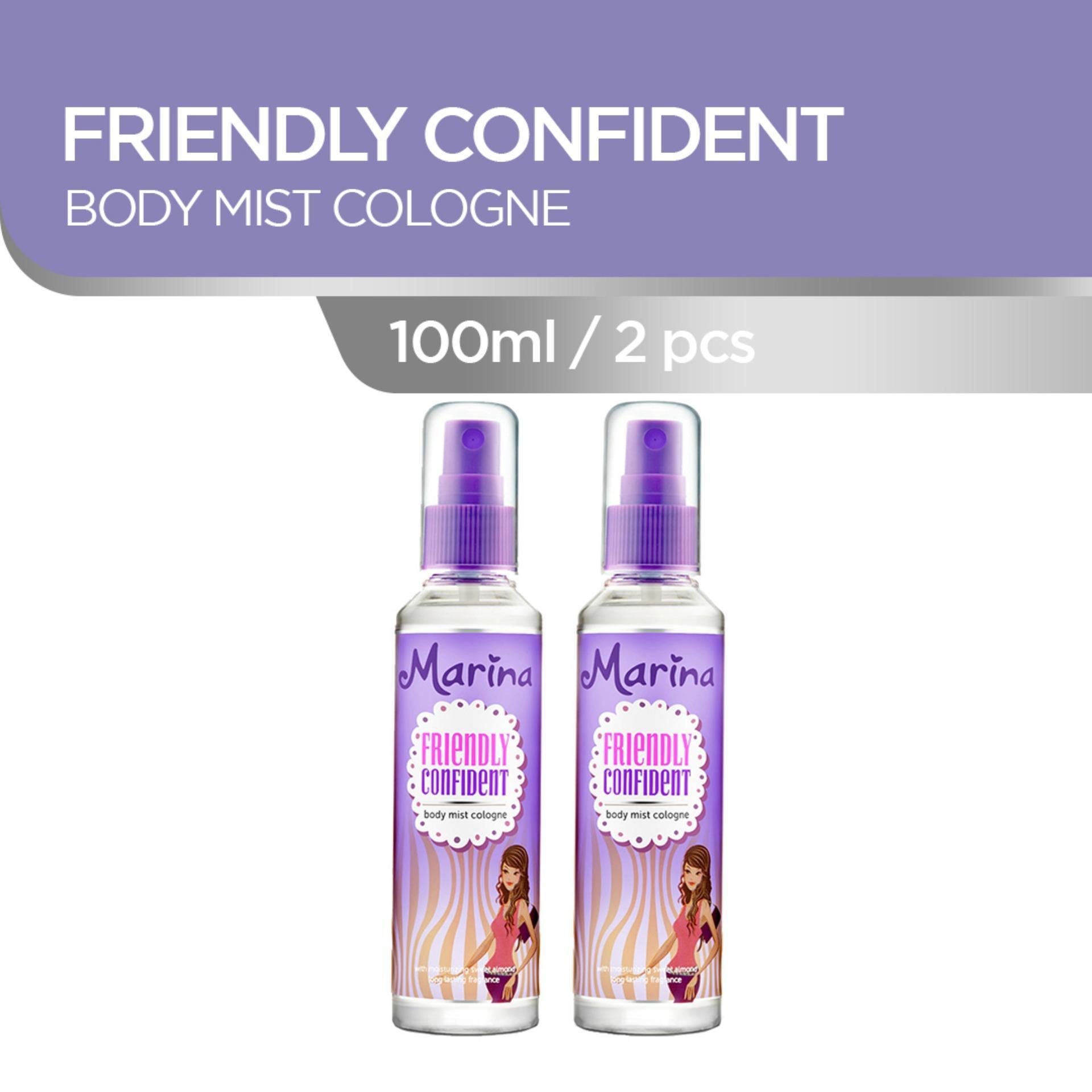 Marina Friendly Confident Body Mist Cologne [100 mL/2 pcs]