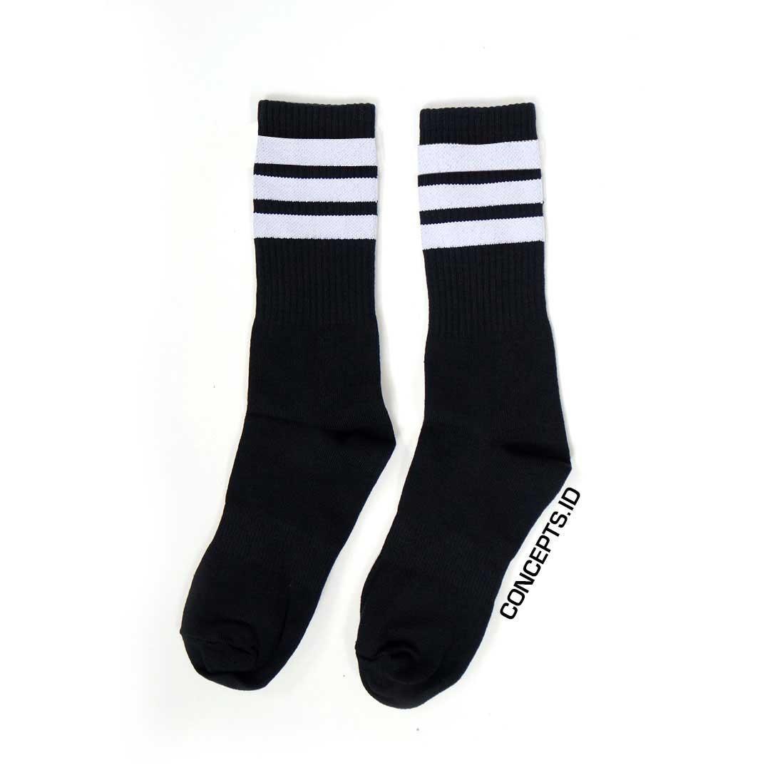 Kaos Kaki Pria Murah Berkualitas Wakai Mikkusu Maroon Grey Black Sepatu Slip On Wak0002551zz895 Hitam 36 Skate Oldschool Stripe Vintage White