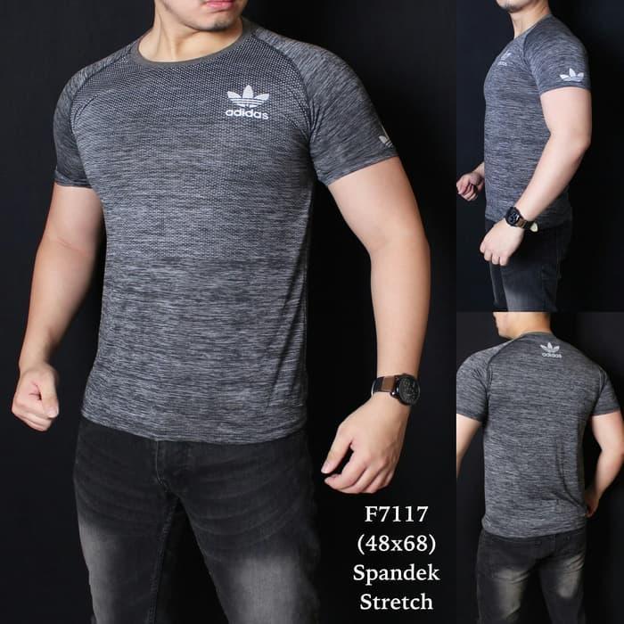 F 7117 Tshirt Kaos Pria Gym Fitnes Pria | Baju Pria / Baju Olahraga Pria