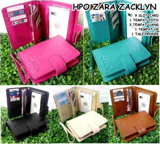 DOMPET HPO WANITA MURAH HARGA GROSIR ZARA ZACKLYN full color (Z10, ANDROID, SAMSUNG S4 NOTE III IPHONE) MAX 5,7 INCHH - sQ40mz