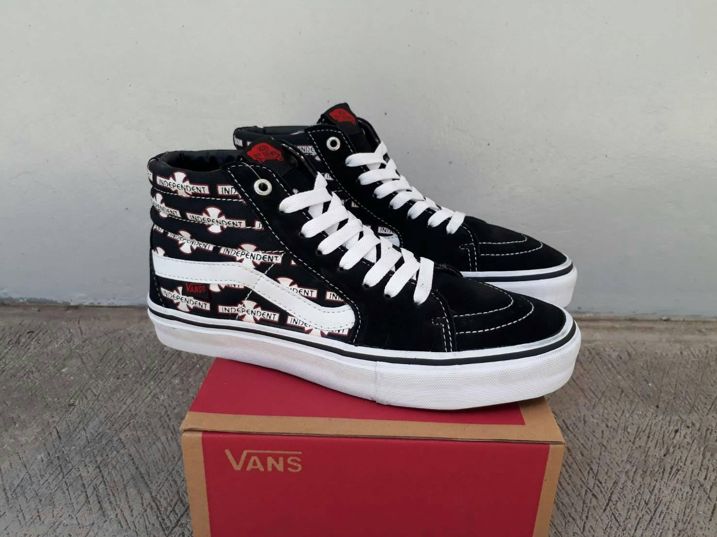 sepatu vans SK8 HI (INDEPENDENT) Black waffle DT premium BNIB made in china