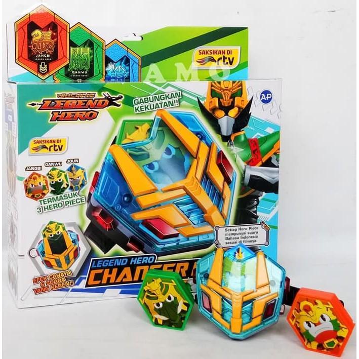 LEGEND HERO CHARGER DX 303110 MAINAN JAM TANGAN LEGEND HERO  / Mainan Edukasi Anak Terbaru Terlaris GB290