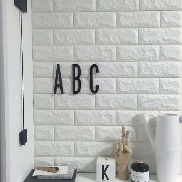 Wallpaper Dinding Foam 3d Batu Bata Putih By Quality Shop.
