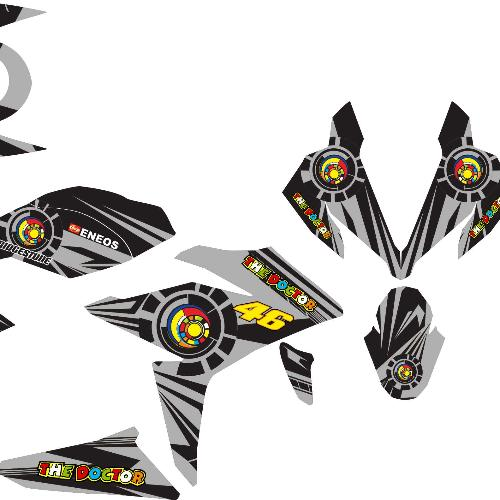 Stiker Motor New Cbr150r Facelit Vr46 Sun&moon Grade B By Master Decal.