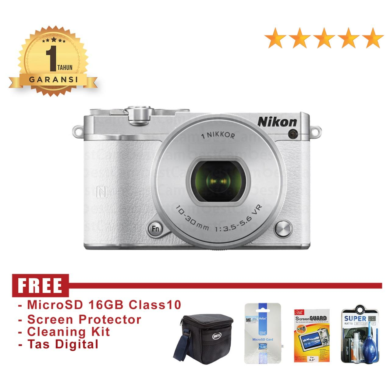 Nikon 1 J5 Kit 10-30mm 20.8 MP - White Mirorrles Kamera