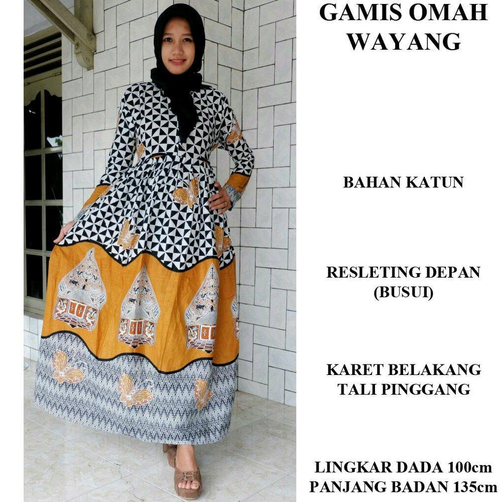 Gamis omah wayang - gamis - gamis batik - gamis klok - gmis busui - dress - dress batik - seragam batik di lapak Batik Gaul Pekalongan nur_janah2611