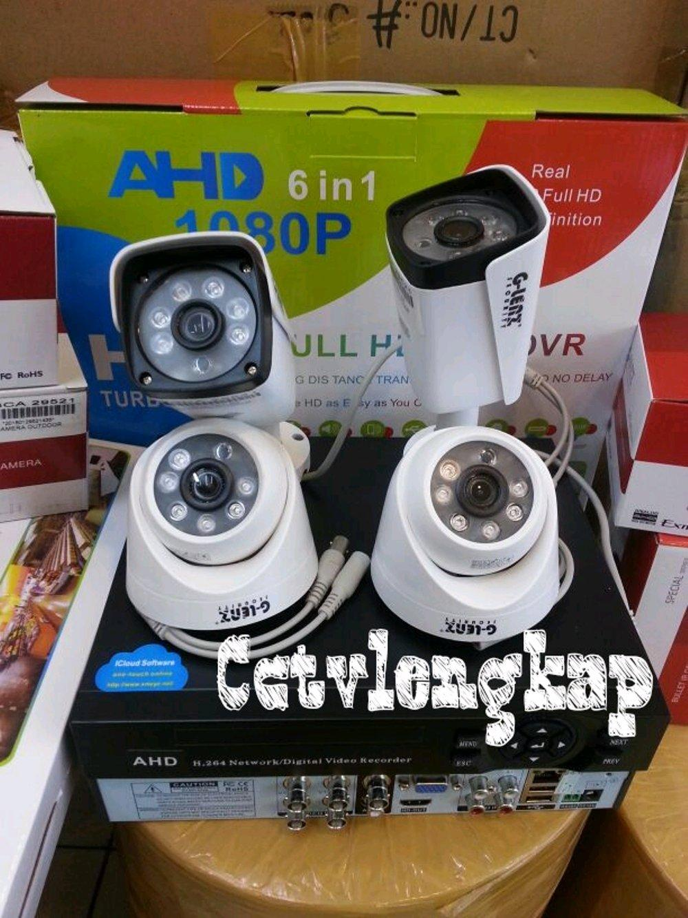 Paket kamera cctv 4ch 2mp full hd glens ic sony exmor