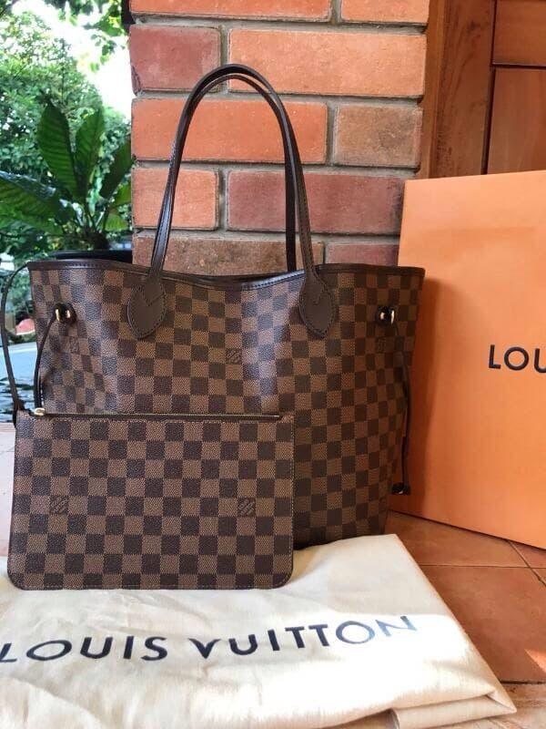 ORIGINAL!!! Tas LV Louis Vuitton Neverfull MM Damier Tote Asli / Ori / Authentic - IdOeip