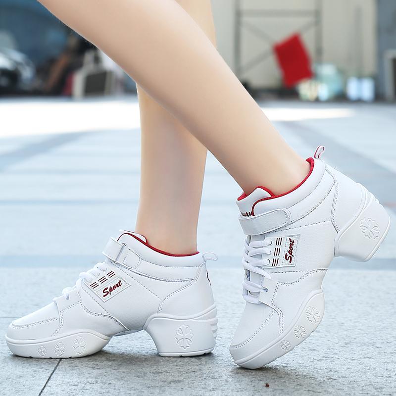 Musim semi dan musim gugur model baru Pijakan empuk Schick HYUNDAI sepatu dansa Pergelangan Kaki Tinggi