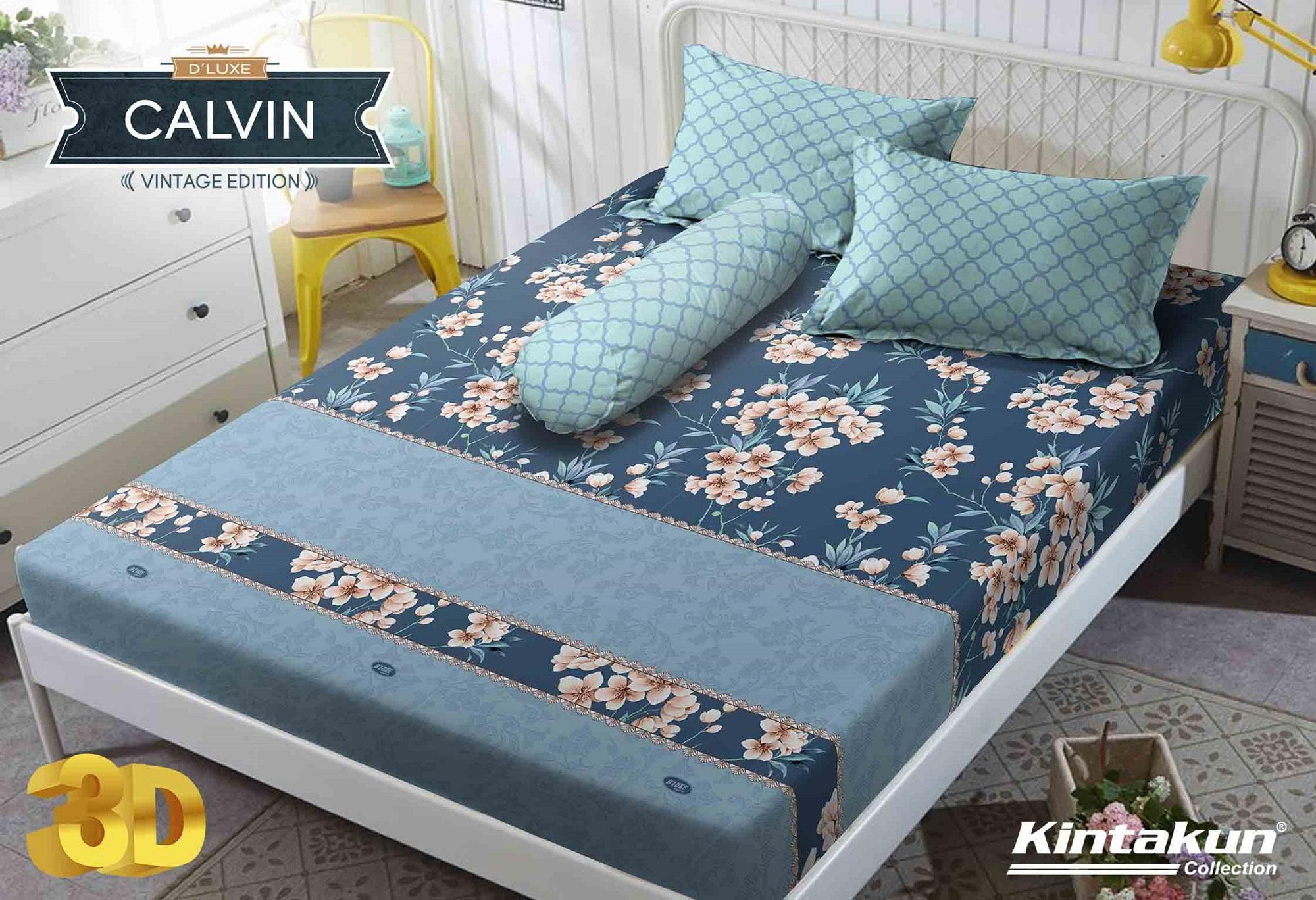 Sprei Kintakun DLuxe Single Size Vintage Edition Uk. 120x200 cm - Calvin