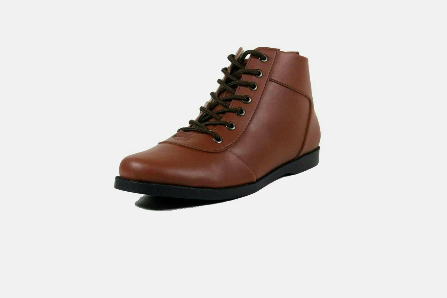 Sepatu pria semi boots avail Davidson black brodo