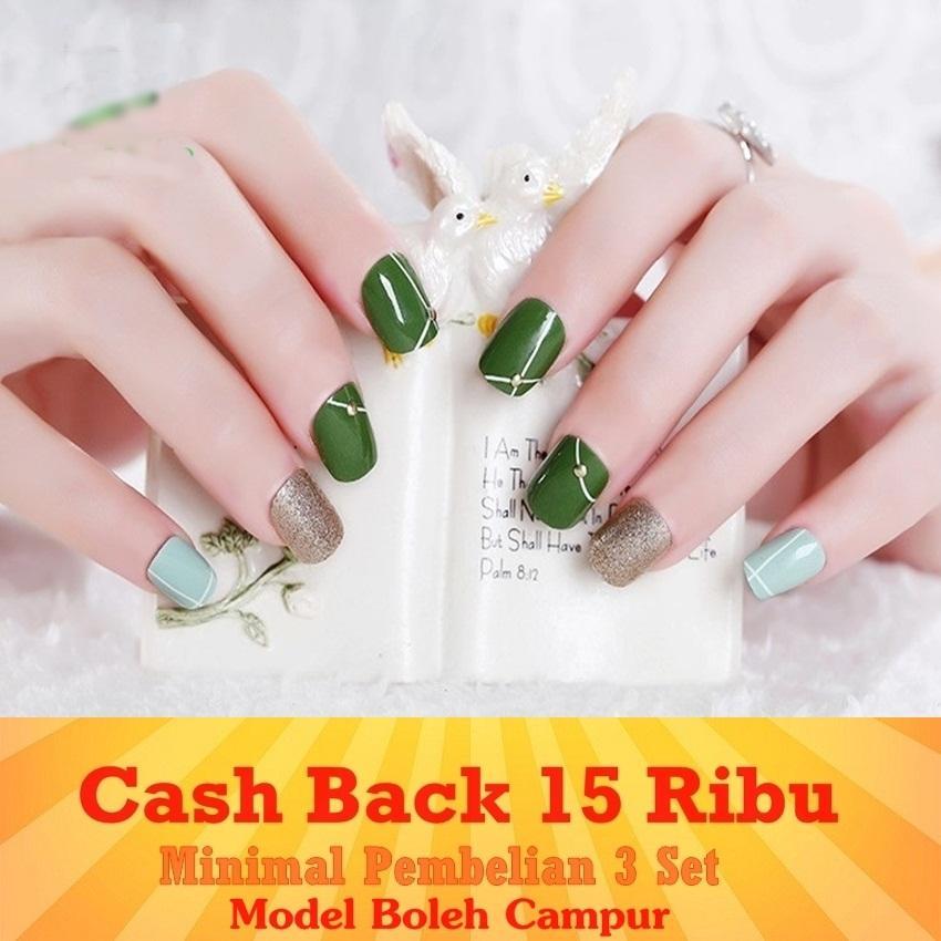 JBS Nails Kuku palsu Wedding Nail Art 3D - A6 A1 A2 A3 A9