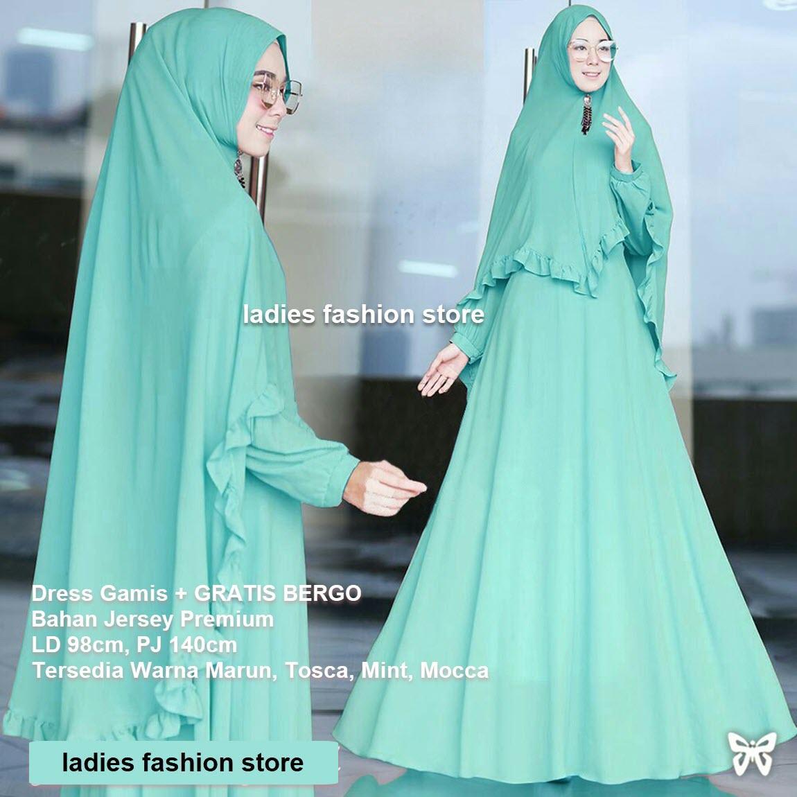 Penawaran Murah Grand Lms Kemeja Tunik Ribbon Motif Kotak Bahan Setelan Gamis Muslimah Wanita Gratis Bergo Baju Modern Model Baru