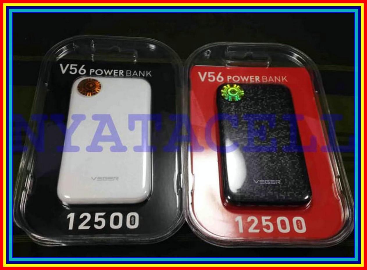 Buy Sell Cheapest Powerbank Veger V56 Best Quality Product Deals 10000 Mah Slim 12500mah Portable Power Bank 12500 Putih
