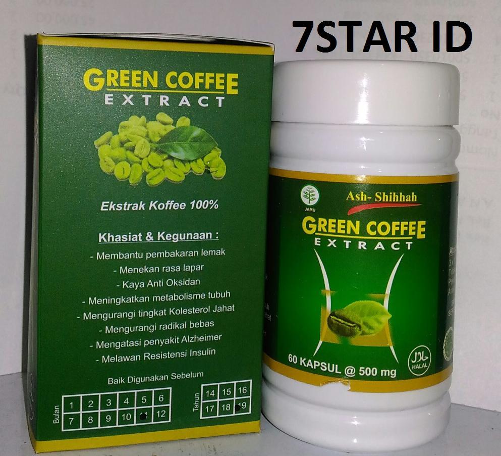 Pembakar Dan Penahan Lemak Kopi Hijau Diet Alami Green Coffee Bean Extract 7star Coffe Original Untuk 100