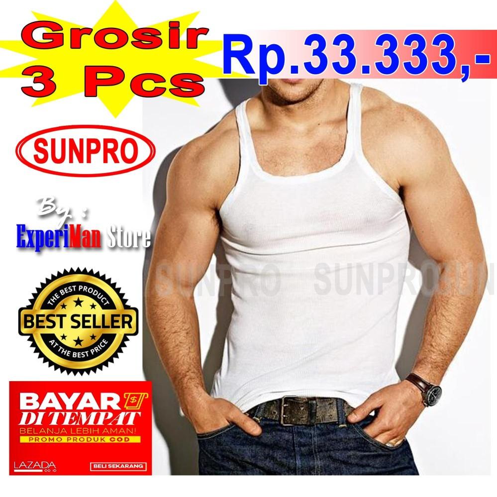 3 pcs Singlet Pria Sunpro Harga Grosir - ExperiMan Store