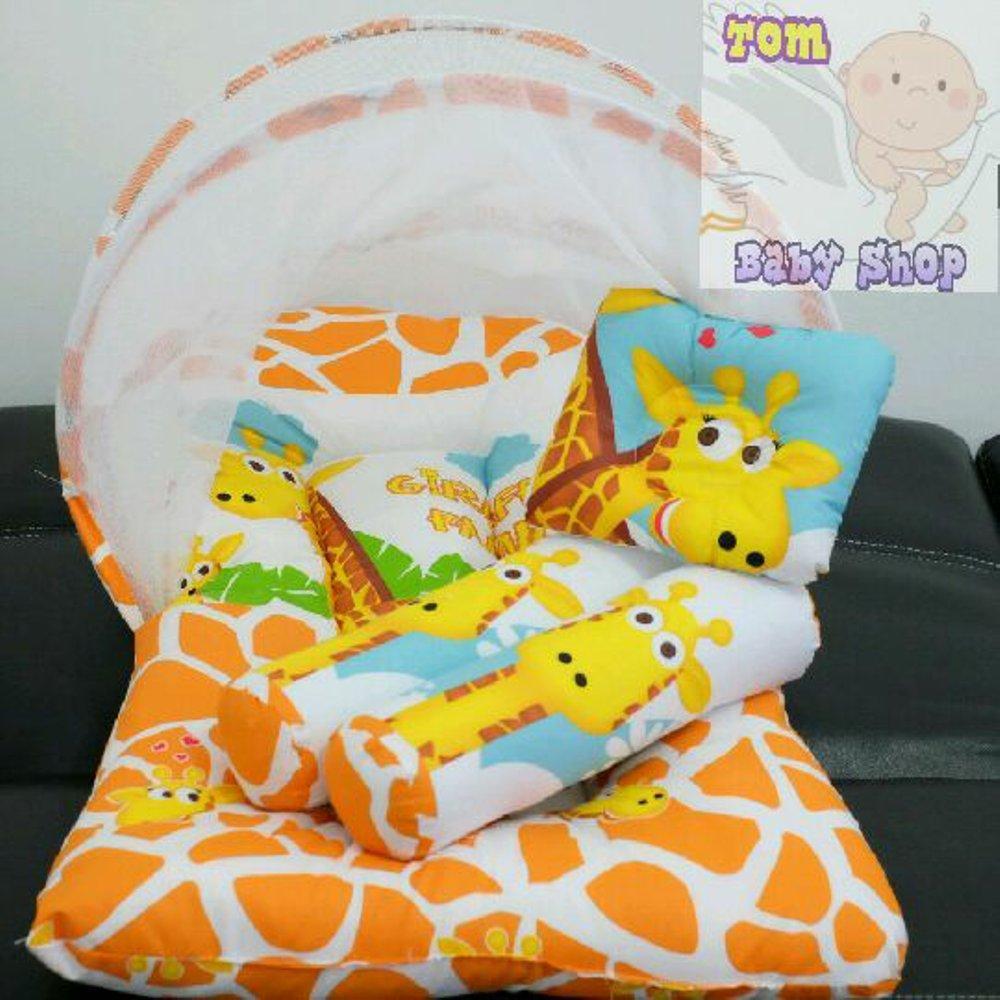 Kasur Bayi Kelambu Giraffe Perlengkapan Baju Kado Lahiran
