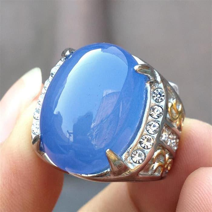 ORIGINAL!!! Cincin Batu Biru Langit/ Spirtus Baturaja - Jv148