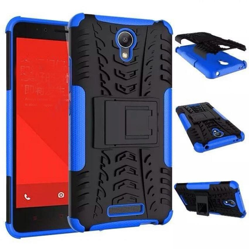Casing TPU + PC Anti Knock Hard Armor Style Protector Case Cover For Xiaomi Redmi Note 2 s 3154 - Blue