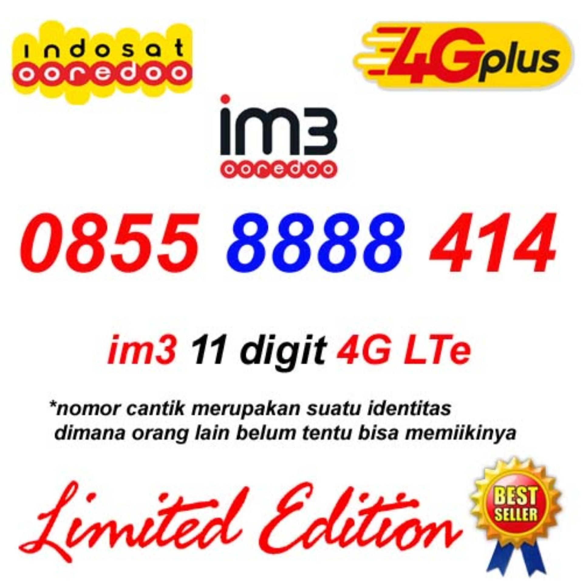 Indosat Im3 11 Digit 0855 8888 414 Kartu Perdana Nomor Cantik Ooredoo 4G Lte