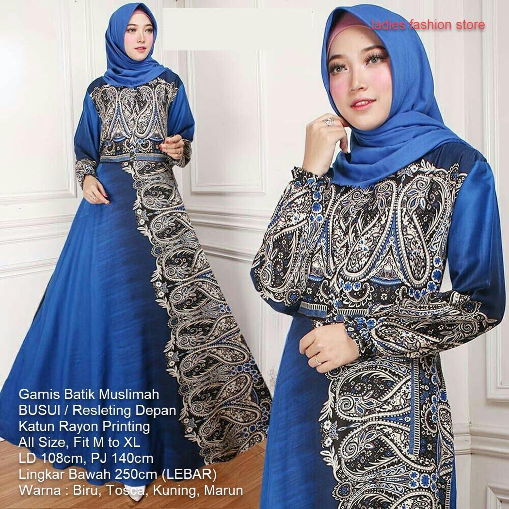 Batik Muslimah Syari / Gaun Pesta Batiks / Gamis Wanita Muslimah / Gamis Muslim Batik /