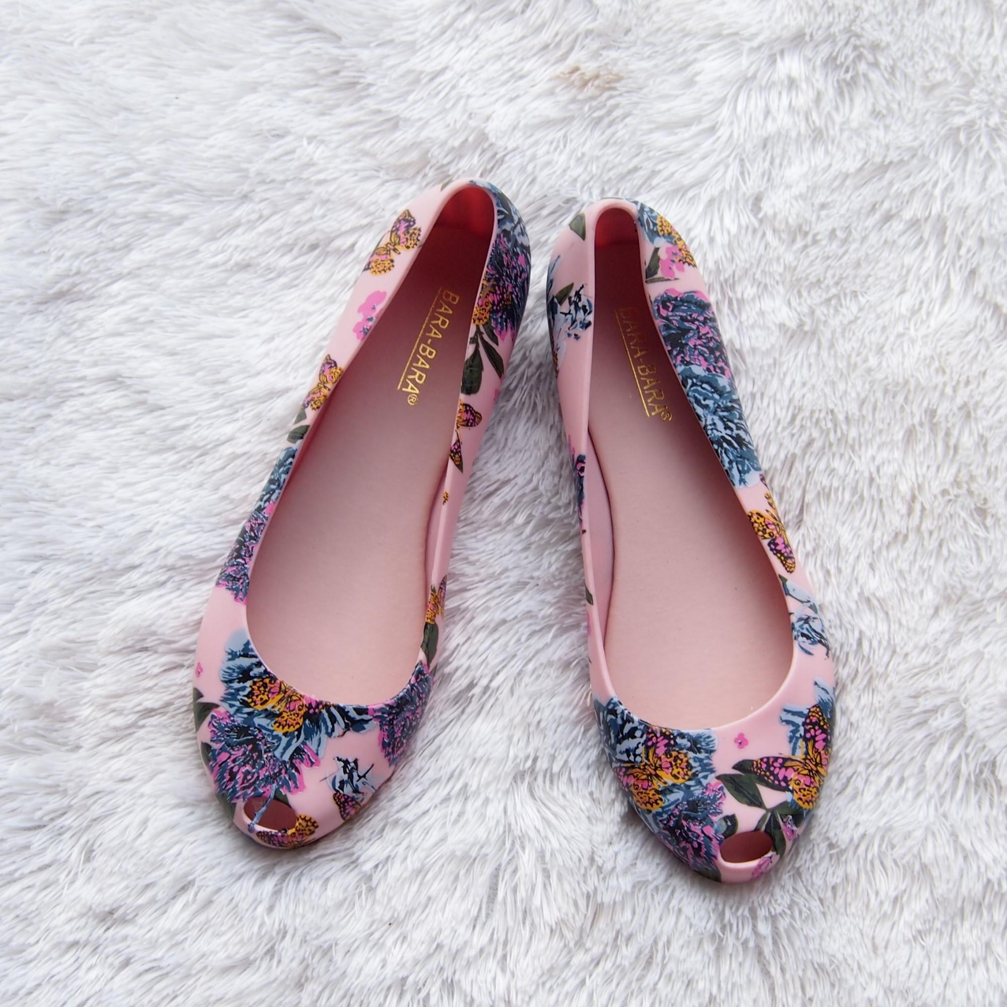 Flat Shoes Bara Bara - Flat Shoes Jelly Wanita Motif Bunga 1838MSB