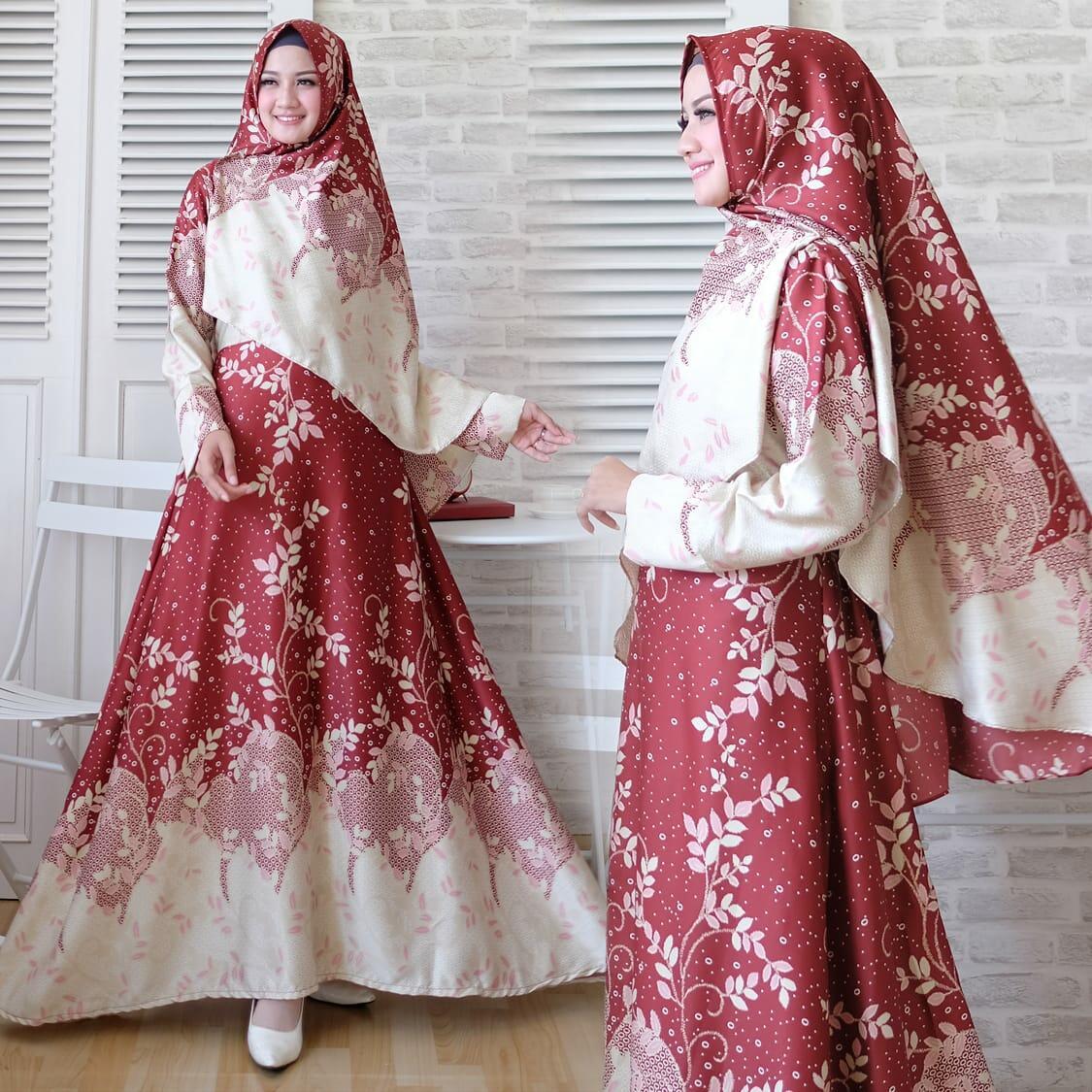 theclover gamis syari NAONA MAXI MARON/busana muslimah 5WARNA/DRESS MUSLIM/PAKAIAN WANITA MUSLIM