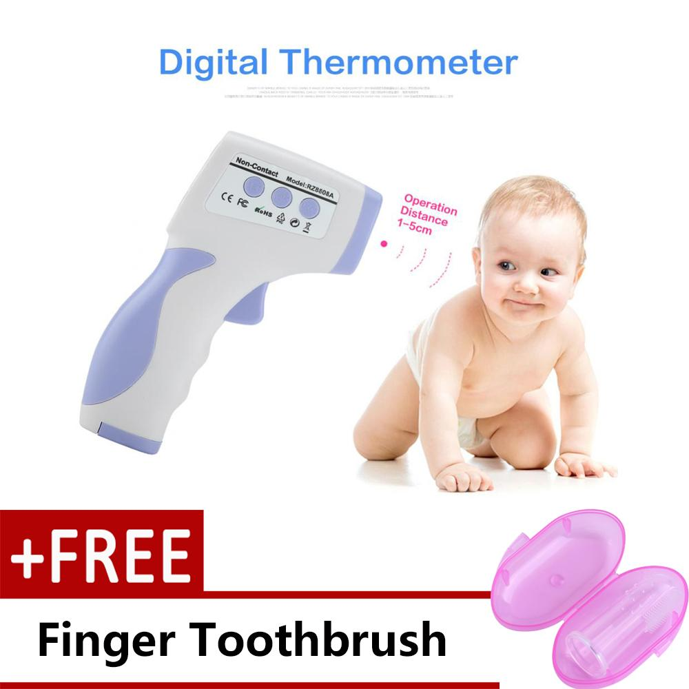 Foxnovo Et 100b Portable Lcd Digital Ir Infrared Ear Thermometer Termometer Baby Thermometermultifungsi 8 In1 It 903 Display Human Body Non Contact Temperature Intl