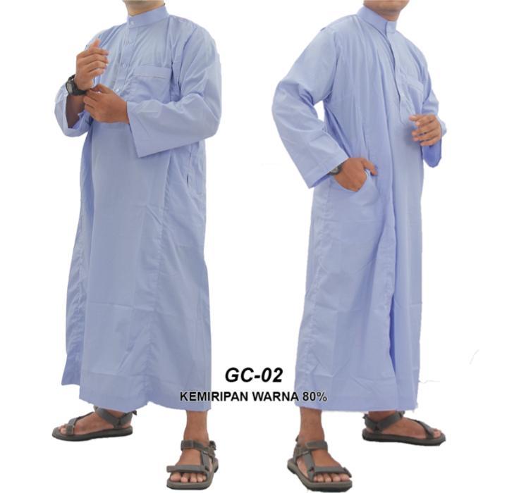 Gamis Muslim Pria  Gamis Lengan Pendek Jubah Pria  Baju Muslim Pria Gamis Pria GC 02