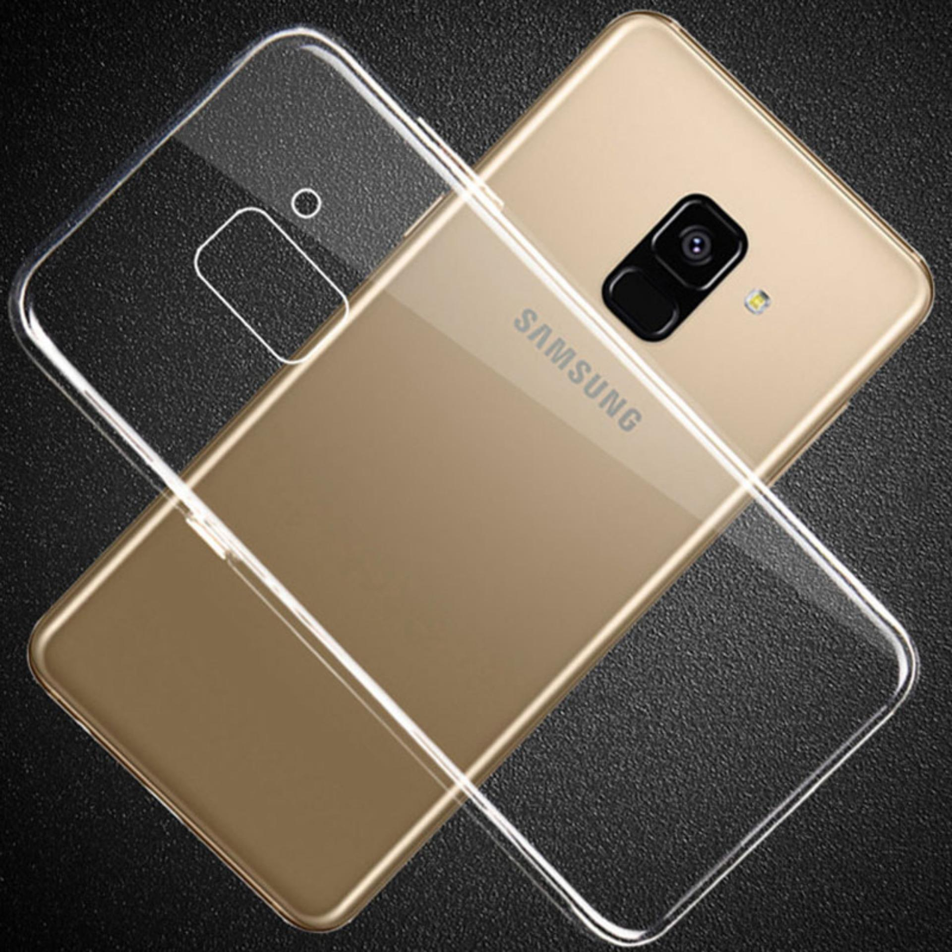 LOLLYPOP Ultrathin TPU Samsung Galaxy A6 2018 Clear/Transparant Bening Softcase Silicone Backcase Backcover Case Hp Casing Handphone