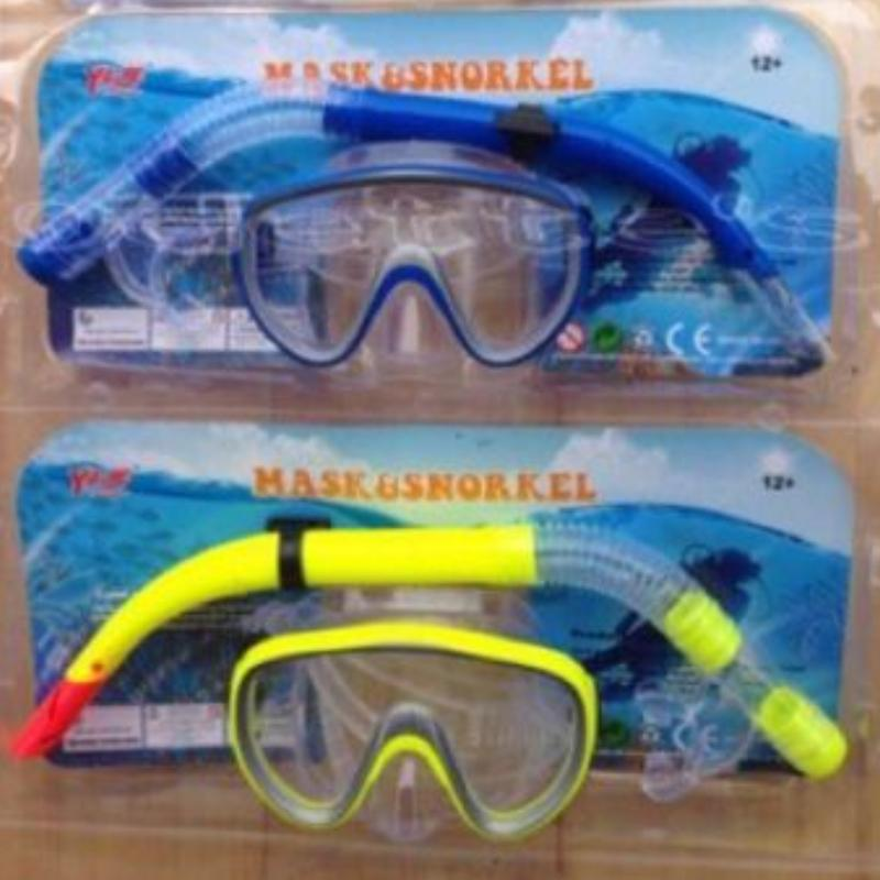 Alat Selam/ Alat Snorkle Alat Untuk Snorkling/kaca Mata Renang/mask Seal Snorkle Dan Selang Nafas Mulut By Wahid Acc.