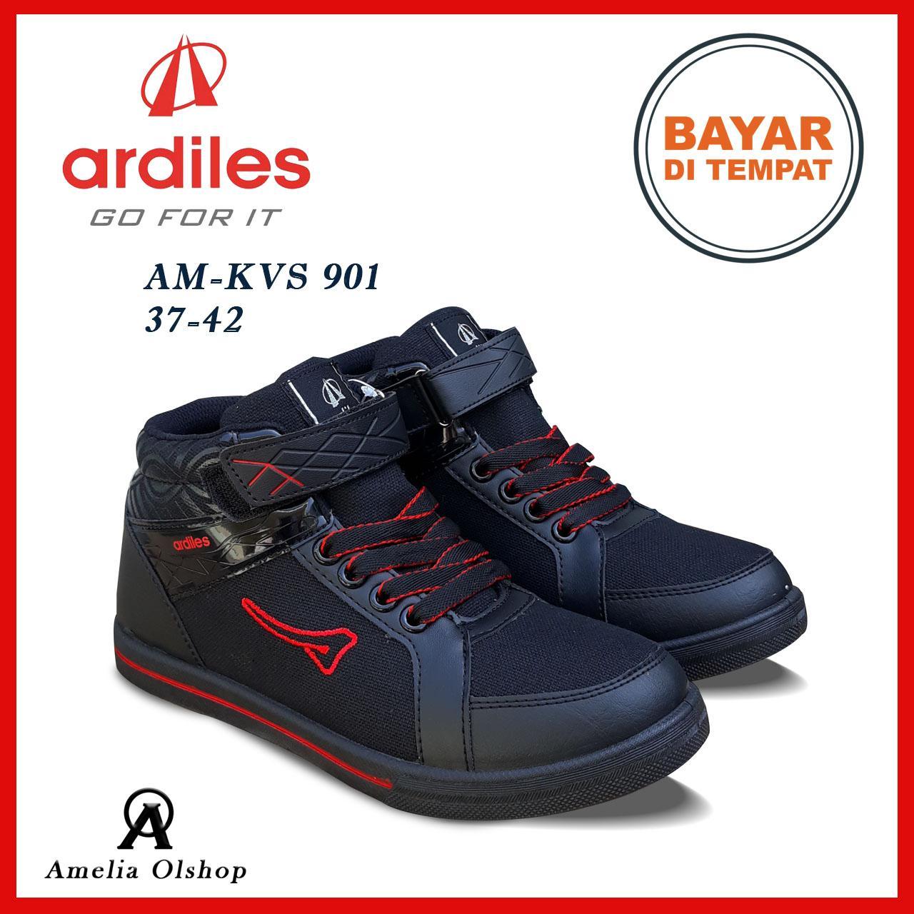 Amelia Olshop - Ardiles Sepatu Sekolah Jaman Now AM-KVS-901 37-42 / Sepatu Hitam / Sepatu Pria / Sepatu Anak Cowok / Sepatu Sneakers anak cowok / Sepatu Sekolah Anak Unisex