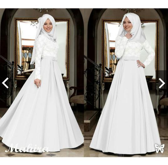 Indonesia Heritage Gamis Syari Pesta bahan Glitter Saten dg Pashmina / Baju Kondangan Muslimah / Fashion Muslim Wanita Terbaru / Kebaya Modern - ihmahira