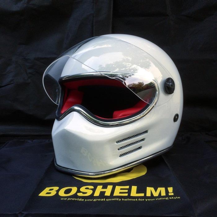 Helm Bandit Putih cc helm cakil, helm bell, helm simpson, helm custom