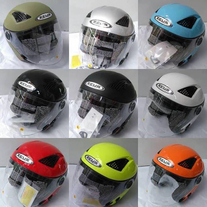 Helm Zeus Z-610 Half face/open face & Double Visor [solid color] Terlaris di Marketplace Lazada