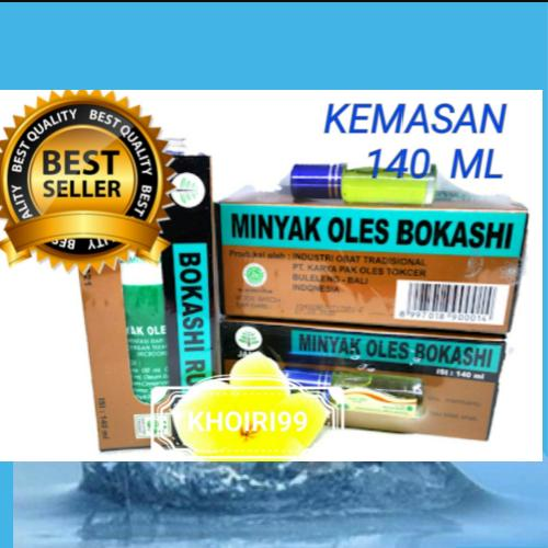 MINYAK OLES BOKASHI 140 ML RUB OIL /MEDICATED OIL 1botol FREE GELANG KESEHATAN