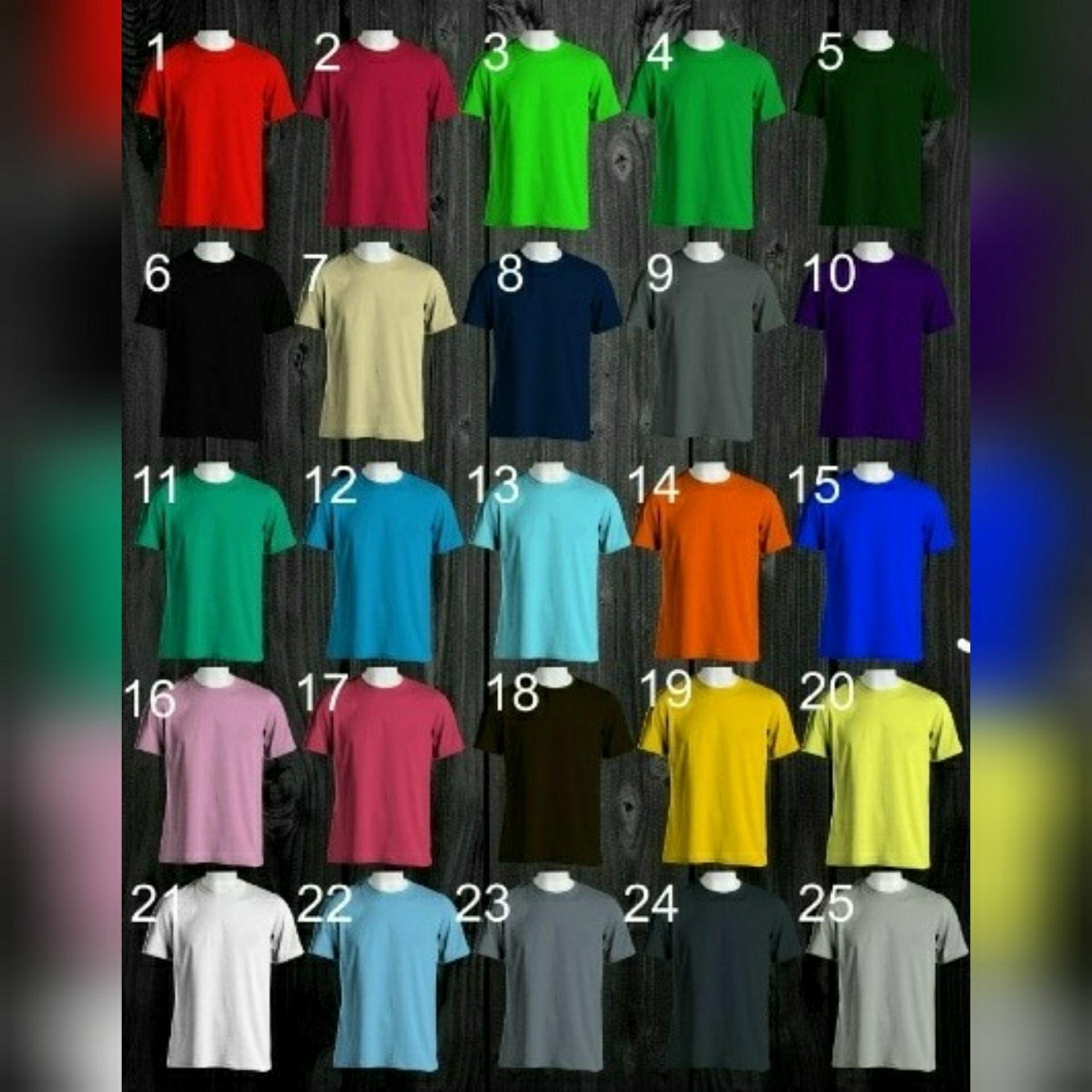 Daftar Harga Kaos Polos Cotton Combed 30s Termurah Coklat Pria 100