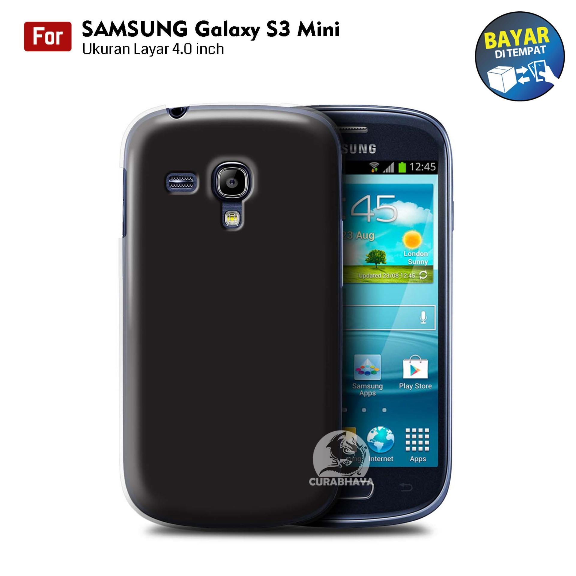 MidNight Samsung Galaxy S3 Mini / I8190 / I8200 / Duos   Slim Case Black Matte Softcase Premium Baby Skin - Hitam