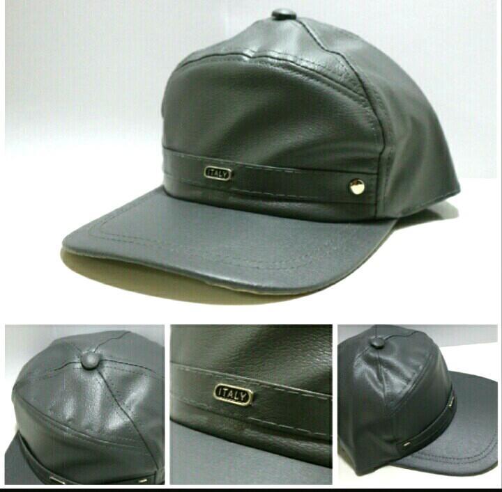Topi Pria Kulit Campuran Lembut Topi Baseball Pengendara Motor,Mancing,Fashion
