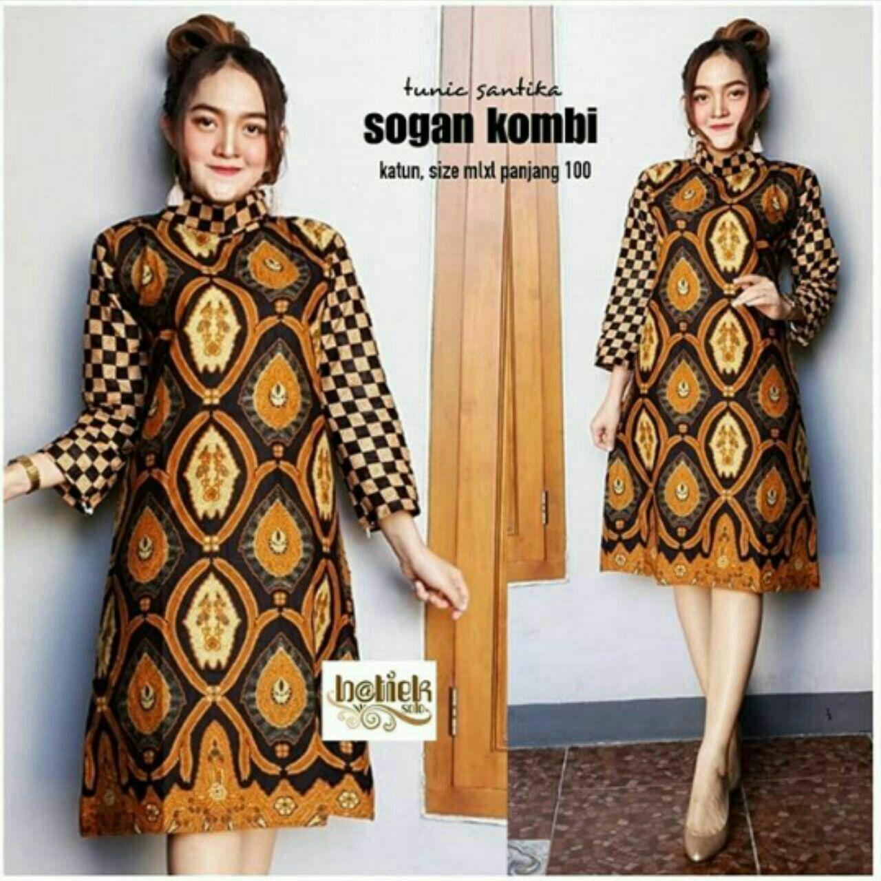 Atasan Batik Wanita Tunik Batik Seragam Guru Dress Modern - Daftar ... 213e8b8065