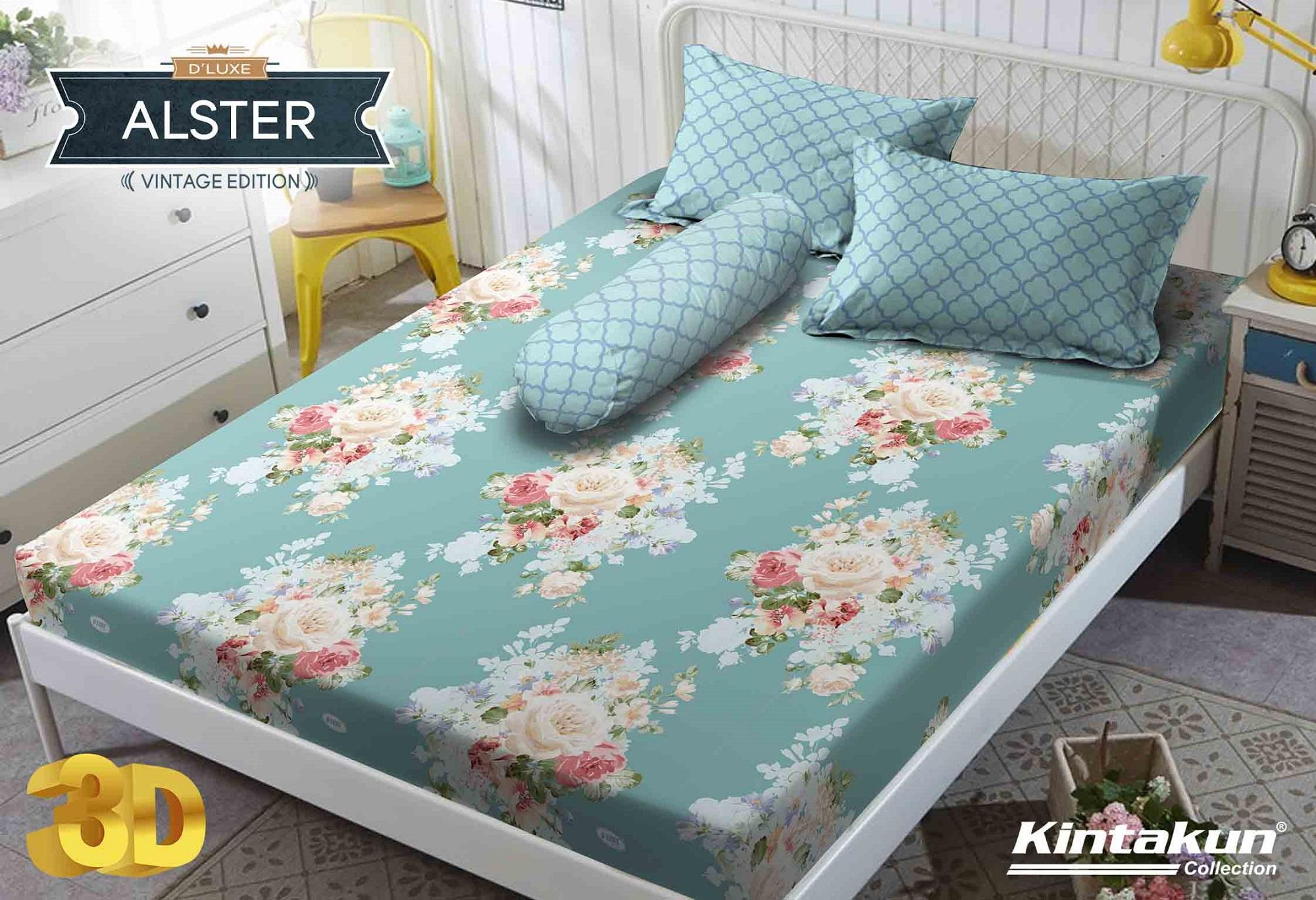 Sprei Kintakun DLuxe Single Size Vintage Edition Uk. 120x200 cm - Alster