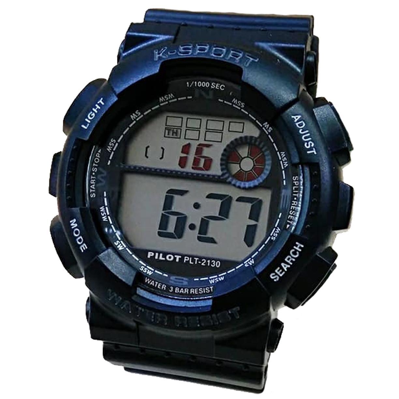 Pilot 2130 Jam Tangan Sport Pria Murah - Tali Karet - Digital Watch