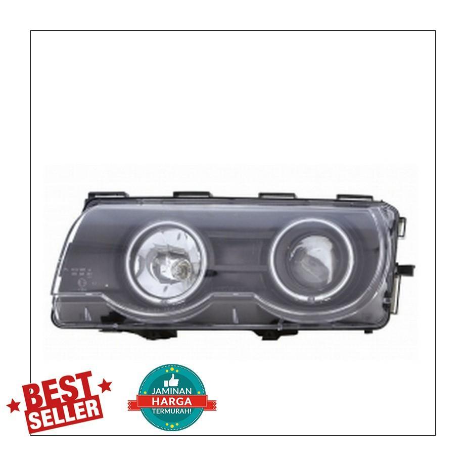 BM097-B3W2C - H.L. - BLACK HOUSING - CLEAR PRJ. BMW E38 98-02, 09