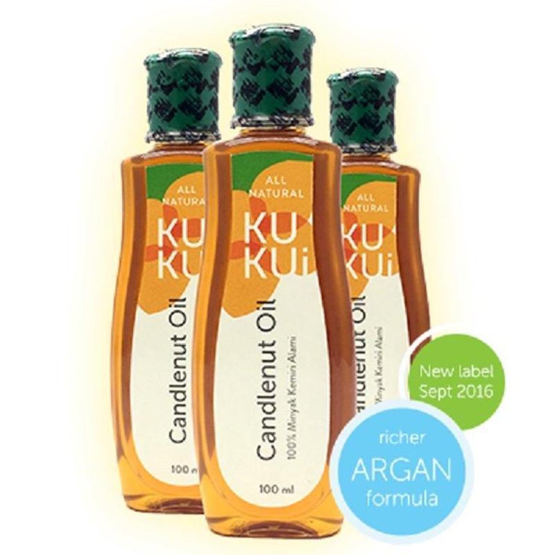 Minyak Kemiri Kukui Asli BPOM Original / Argan Candlenut Oil / Menguatkan Rambut Rontok / Menghilangkan Ketombe /