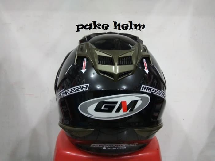 Best Seller HELM GM NEW IMPREZZA HITAM GLOSSY HALF FACE