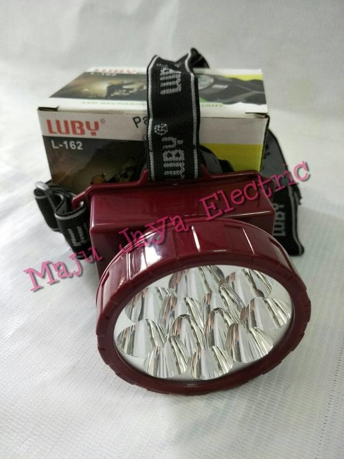 Senter Kepala Luby Cas Ulang L-162 LED Rechargeable Head Lamp Headlamp