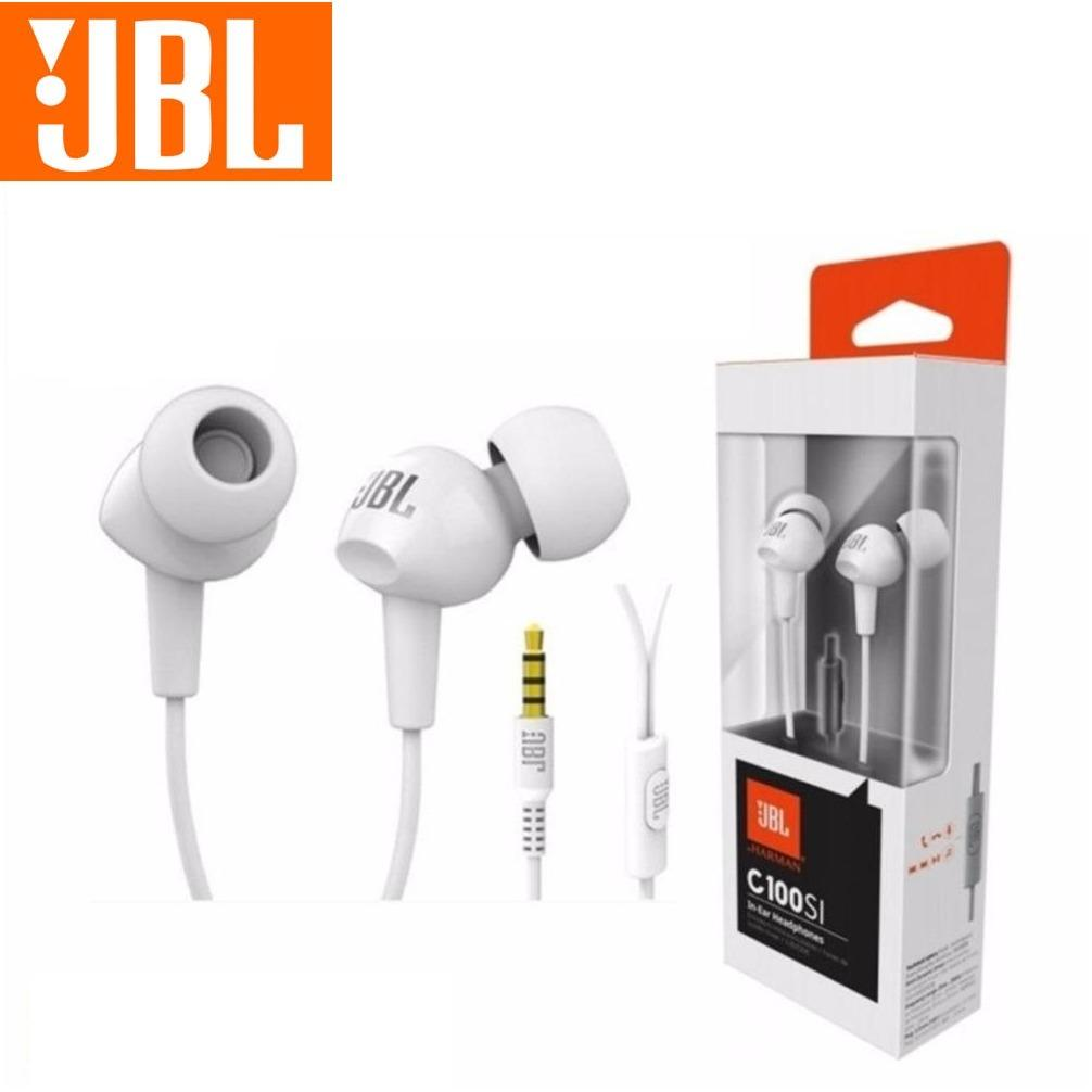 JBL C100 Earphone High Performance Headphone In-Ear Putih