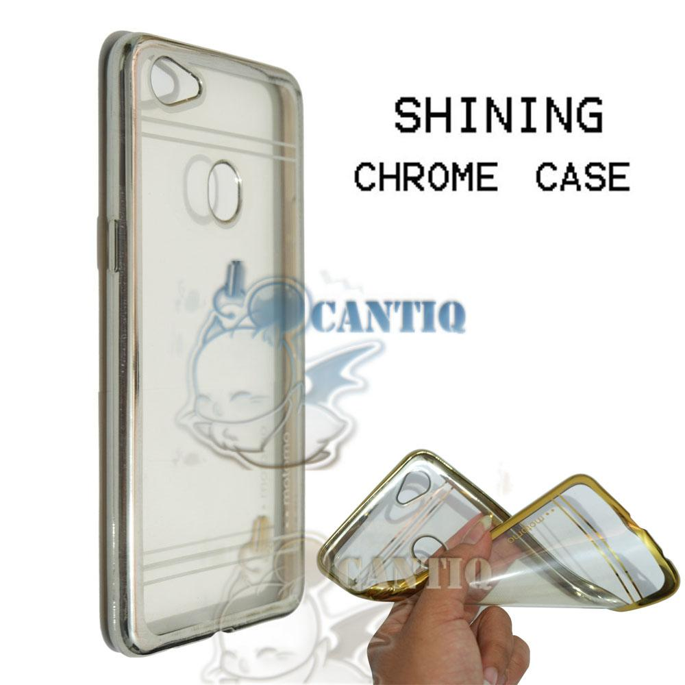 Motomo Chrome Soft Case Oppo F7 / Silikon Oppo F7 Shining Chrome / Tpu Jelly Ultrathin