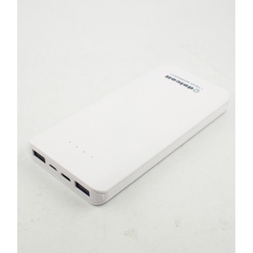 Delcell Power Bank Compact Fast Charging Real Capacity 10500mAh - White
