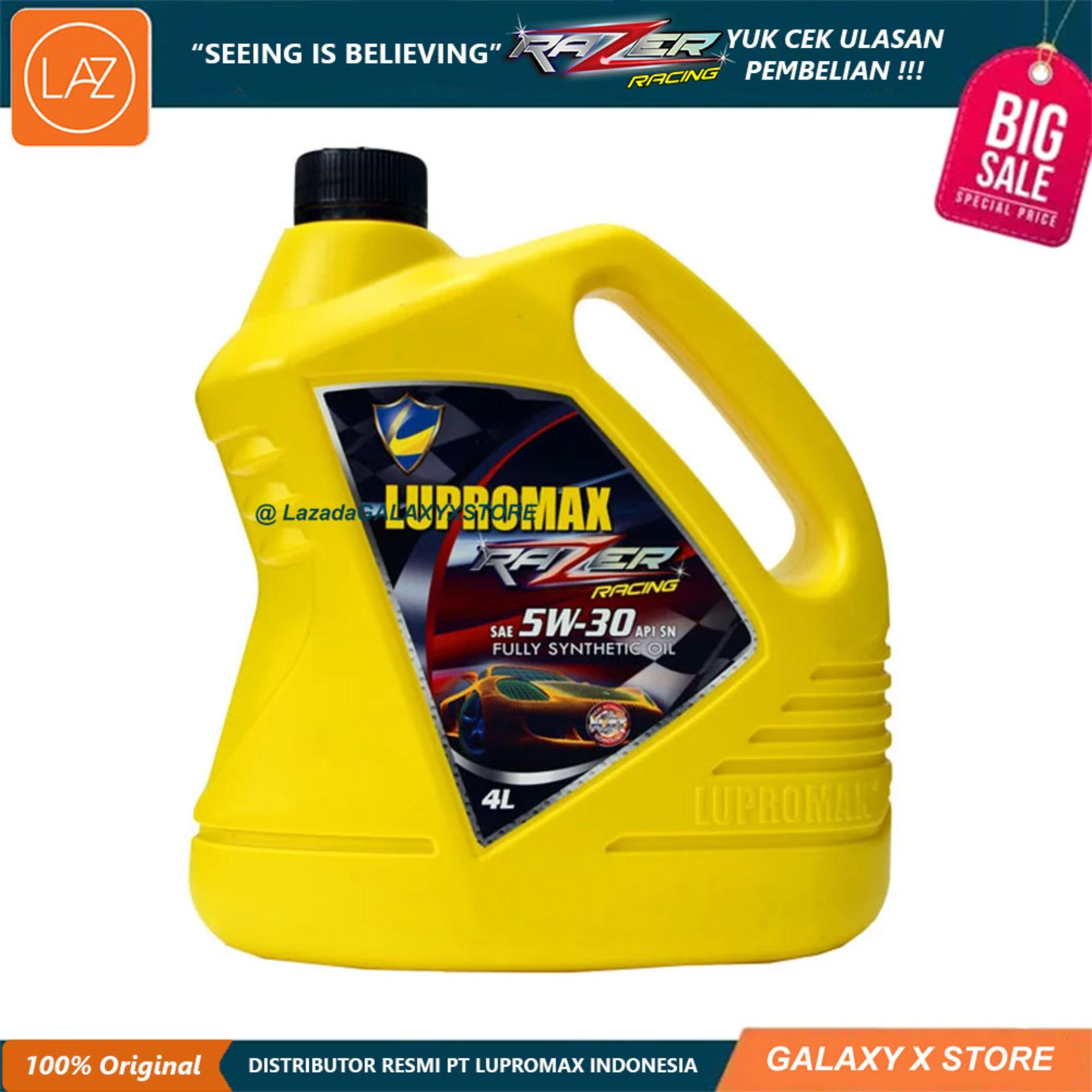 Lupromax Razer Racing 5W30 API SN Oli Mobil - 4 Liter Otomotif Minyak Pelumas Oli